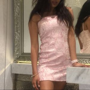 Forever21 Pink and Gold Dress